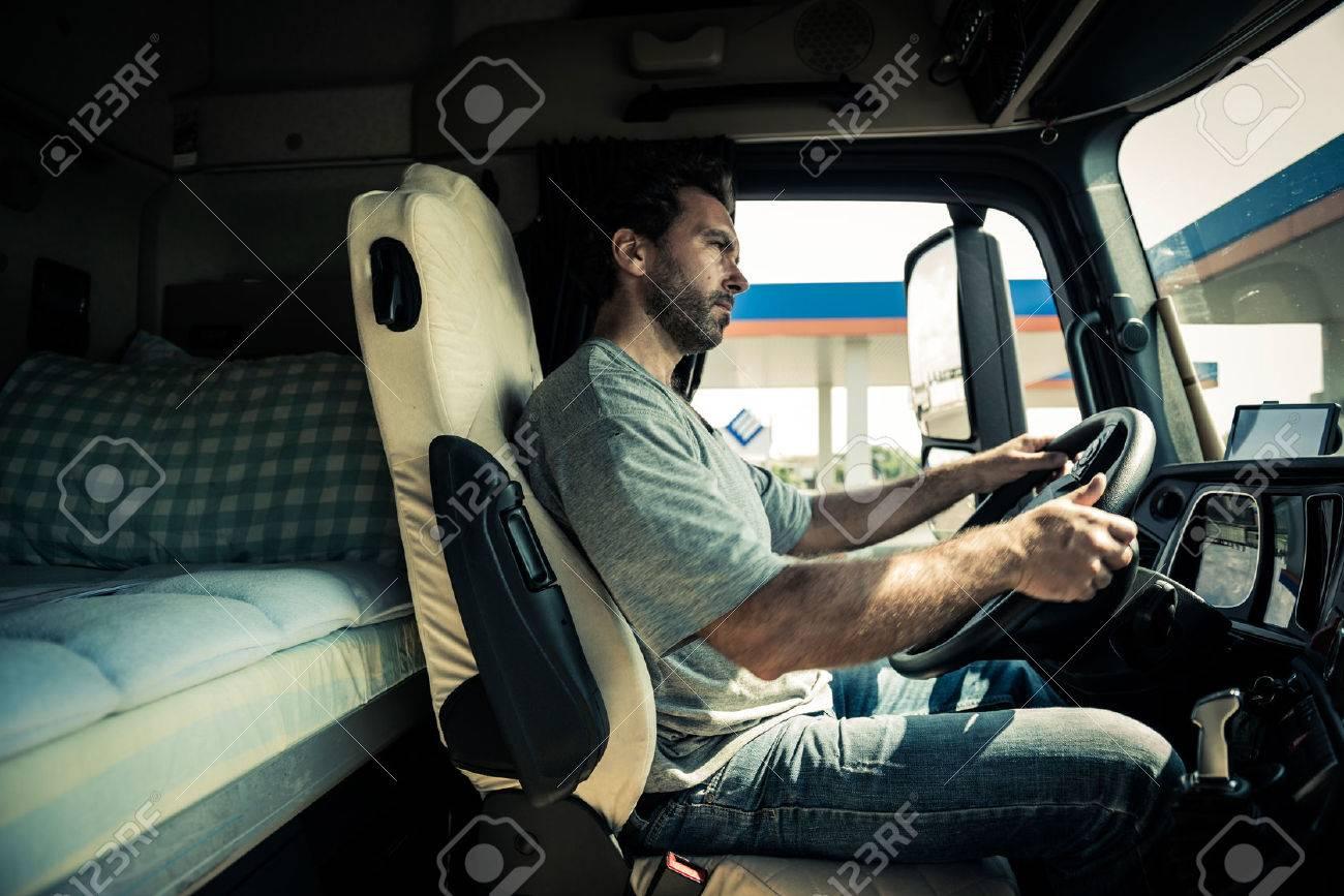 Portrait of a truck driver - 33894256