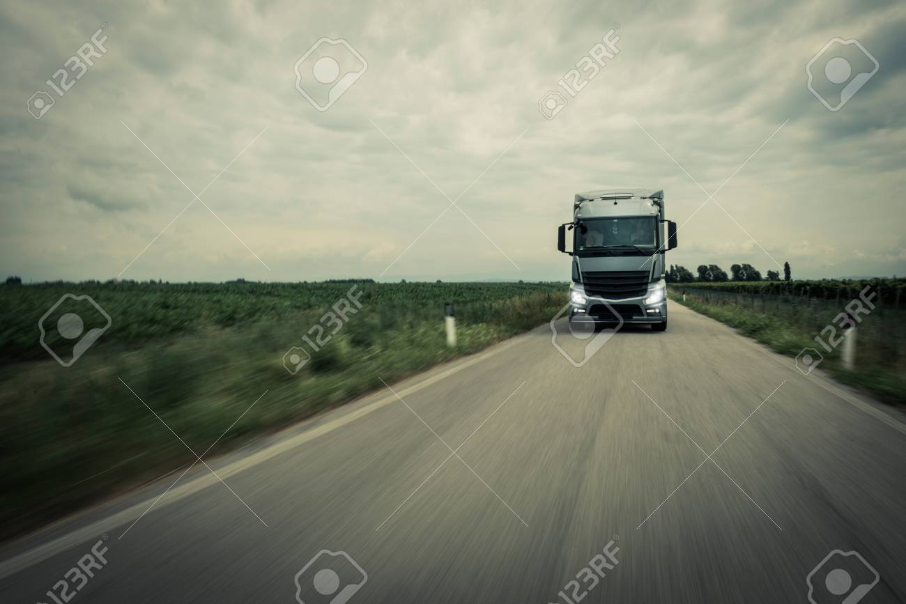 Truck on the road - 32259103