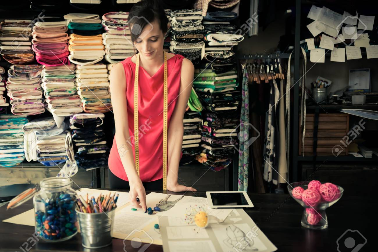 Young fashion designer - 33894267