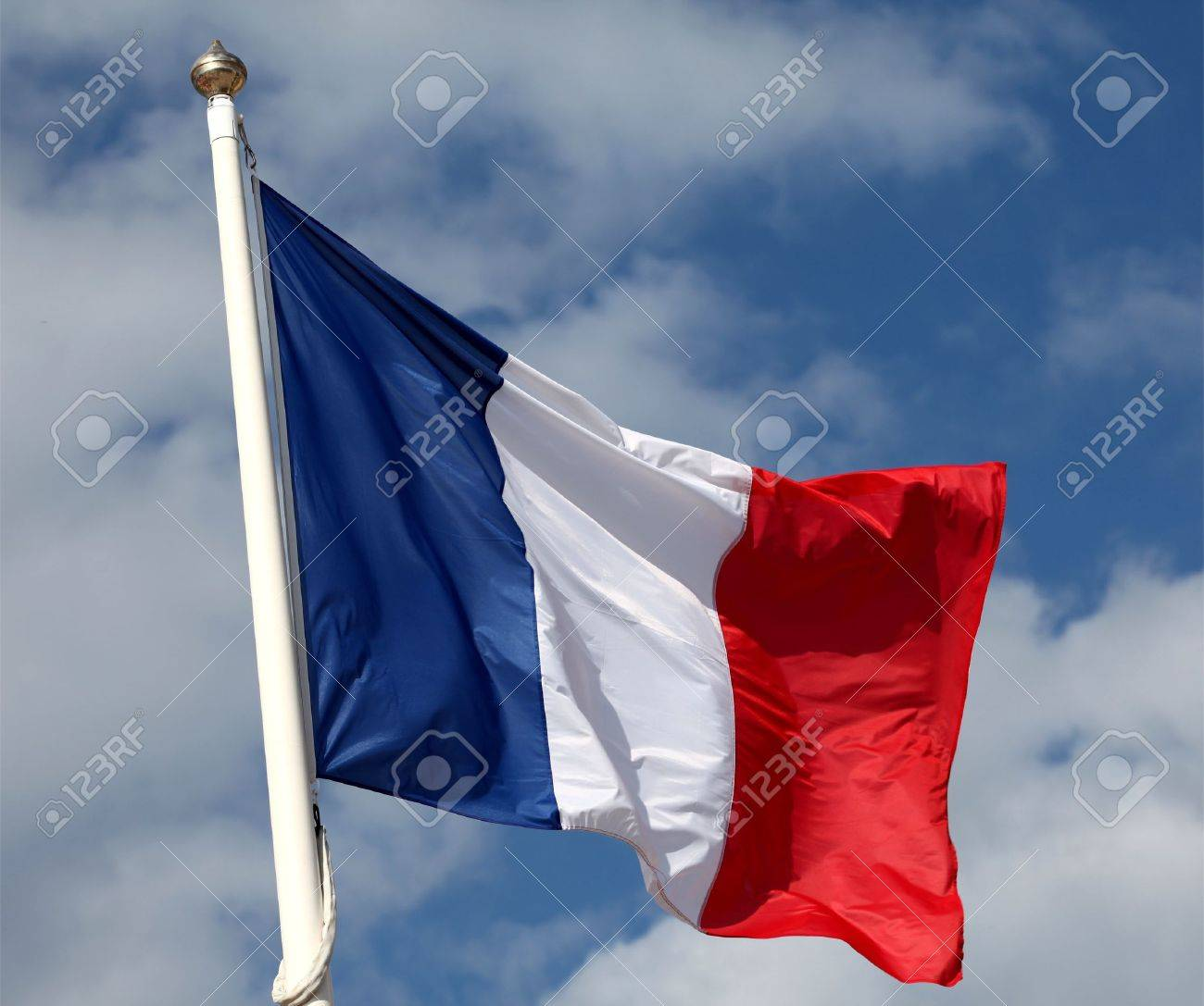 French flag waving in the wind Stock Photo - 14578007