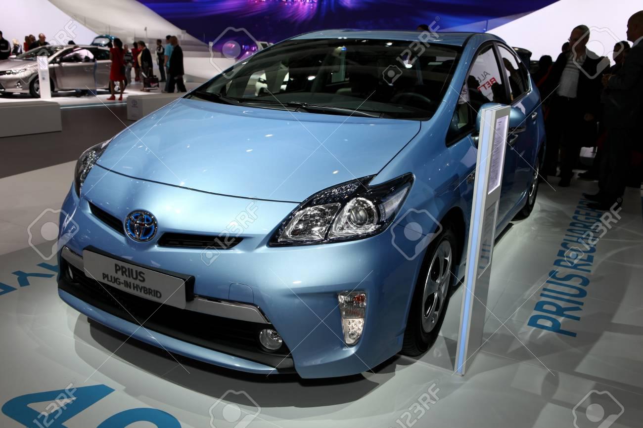 New Toyota Prius >> The New Toyota Prius Plug In Hybrid Displayed At The 2012 Paris