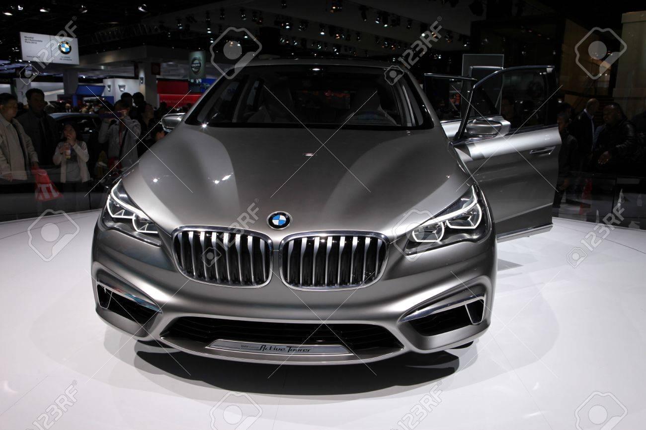 The BMW Active Tourer Concept Displayed At The 2012 Paris Motor ...