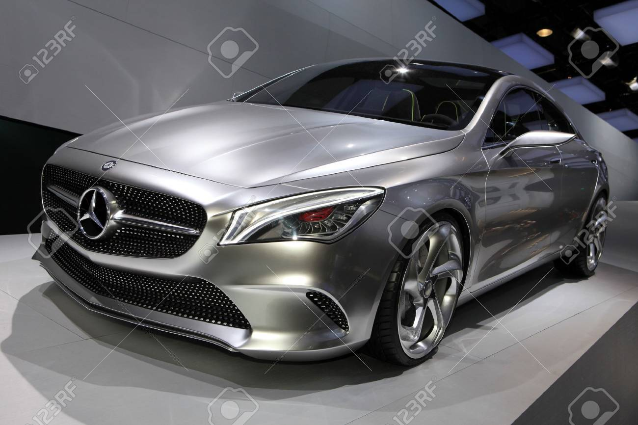 The Mercedes Concept Style Coupe displayed at the 2012 Paris Motor Show on October 14, 2012 in Paris Stock Photo - 15768229