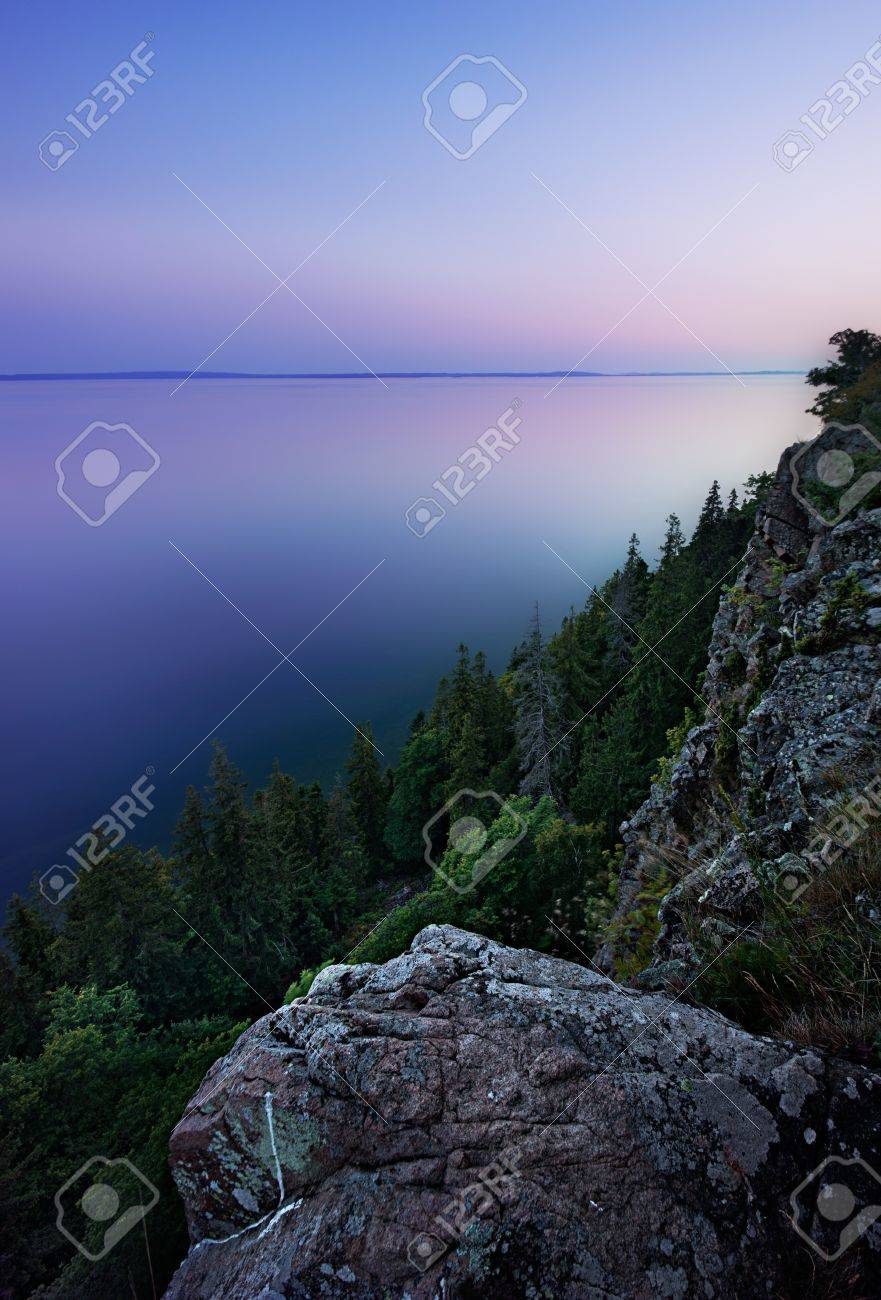 Hdr From The Western Wall Of Omberg An Echopark By Lake Vattern Stock Photo Picture And Royalty Free Image Image 24698457