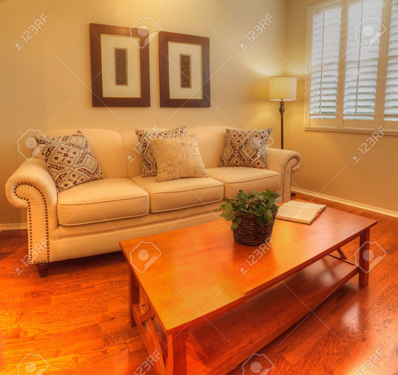 Irvine, CA, USA August 19, 2016: Small living room with a sofa,..