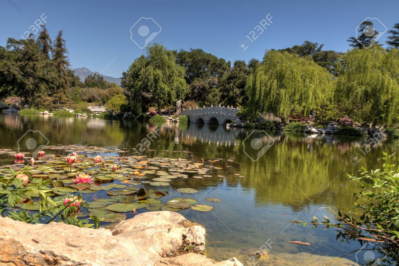 Los Angeles, California, April 1, 2017: Chinese Garden At The ...