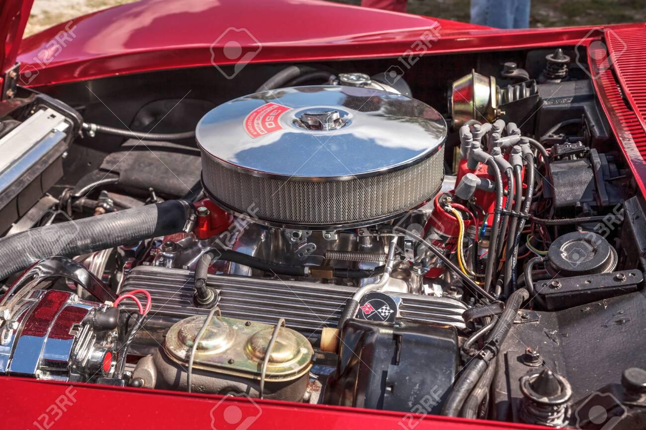 Corvette Stingray 1969 >> Estero Florida Usa February 23 2019 Red 1969 Chevrolet
