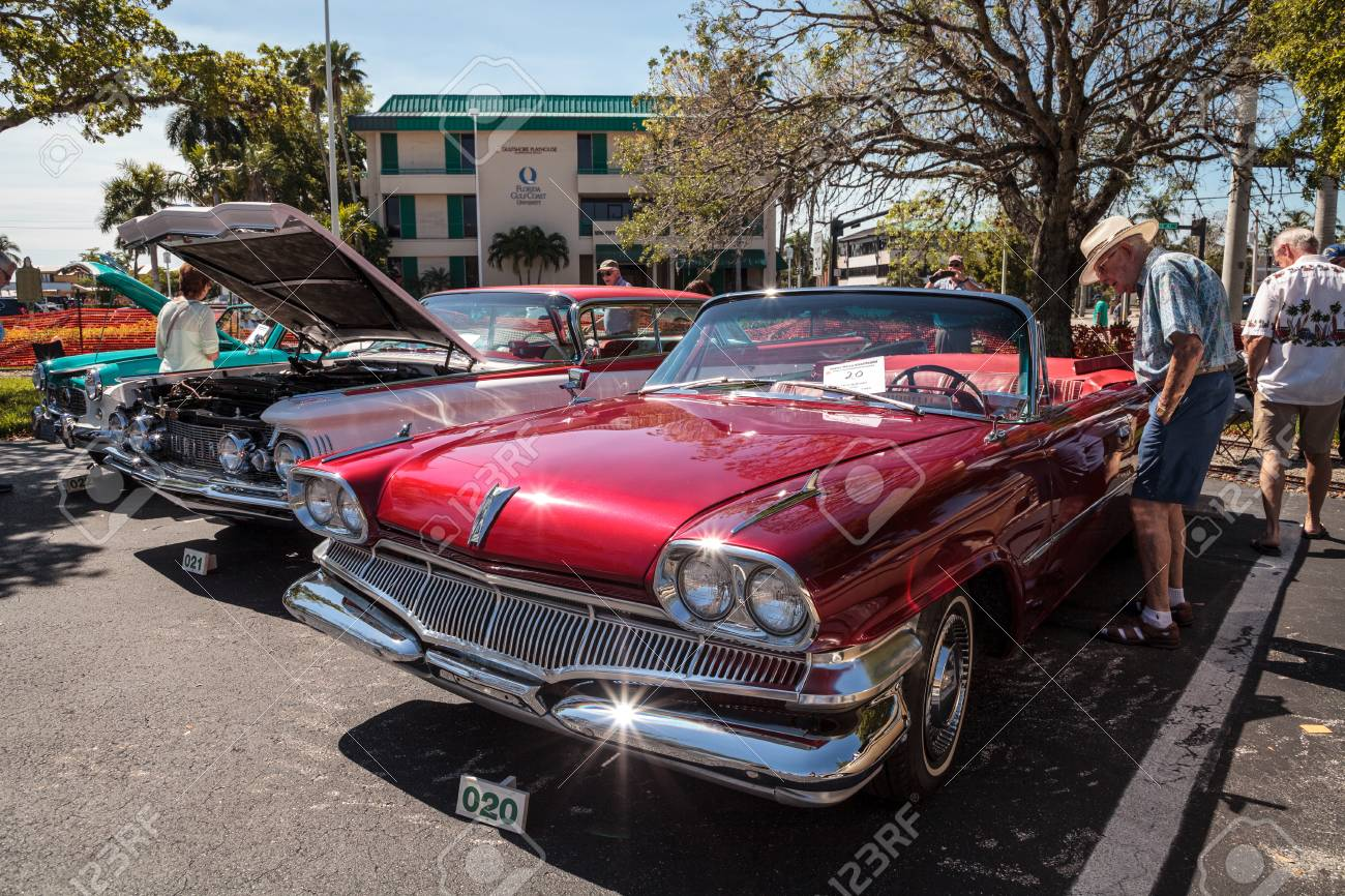 Naples Car Show >> Naples Florida Usa March 23 2019 Red 1960 Dodge At The