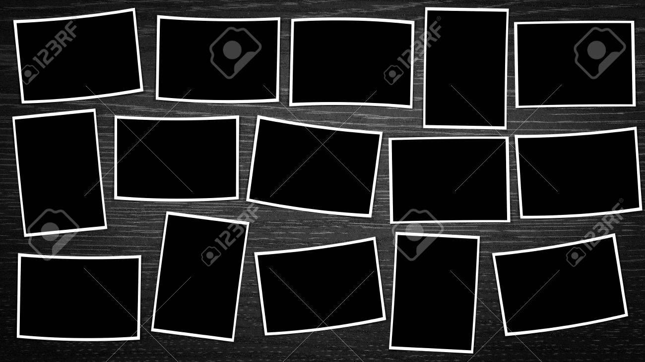 Marco Compuesto De Fotos Vacío, Con Lugares Para La Foto, En Formato ...