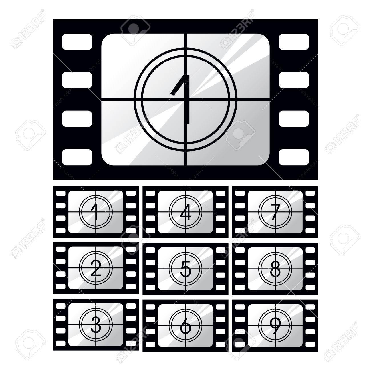未露光映画用フィルム、白い背景...
