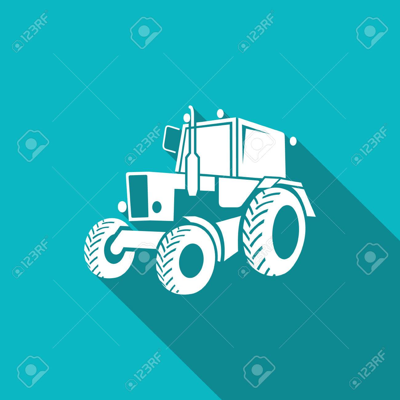 Vector Isolated Flat Icon on a blue background for design - 44246330