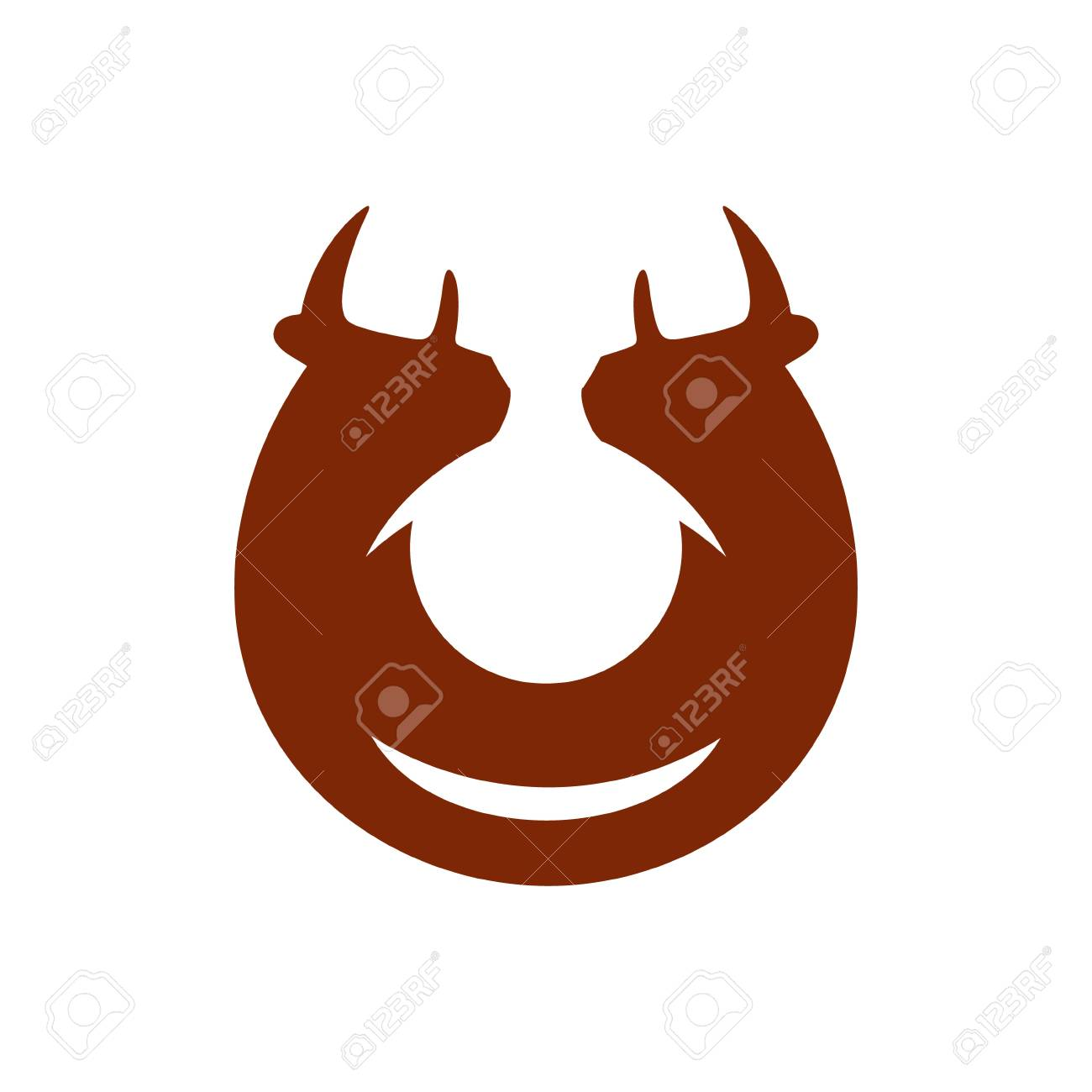 Cow Head Symbol Isolated On White Background Royalty Free Cliparts