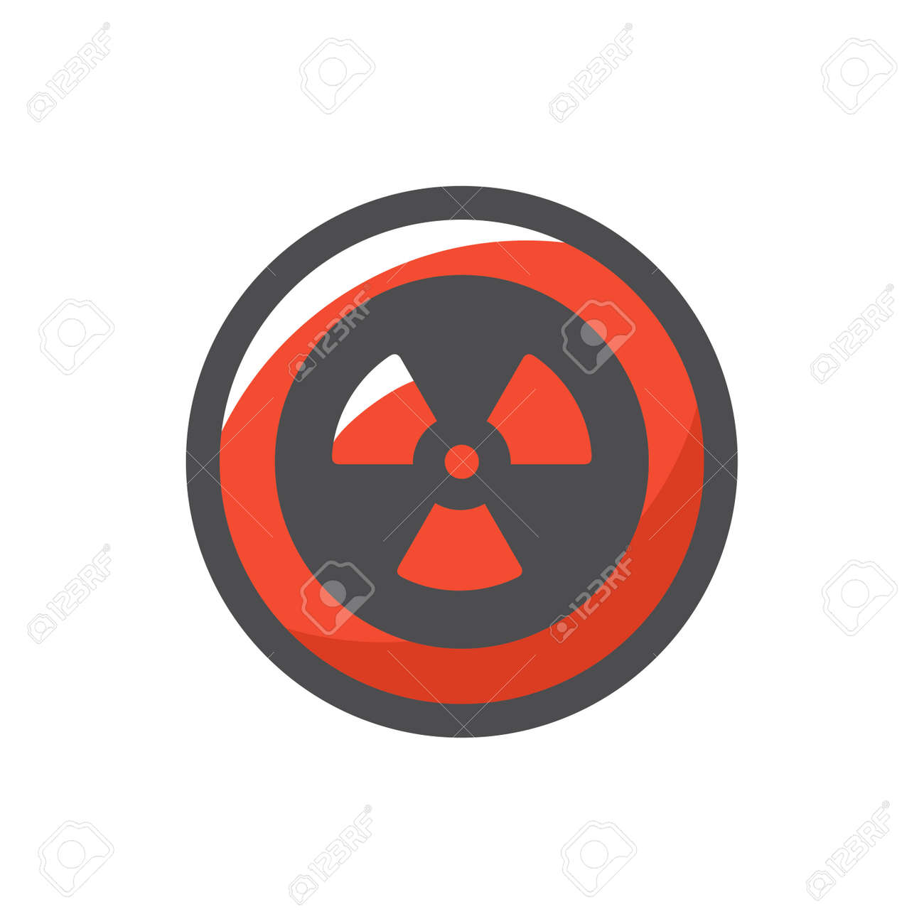 Radiation round Sign Vector icon Cartoon illustration. - 169912782