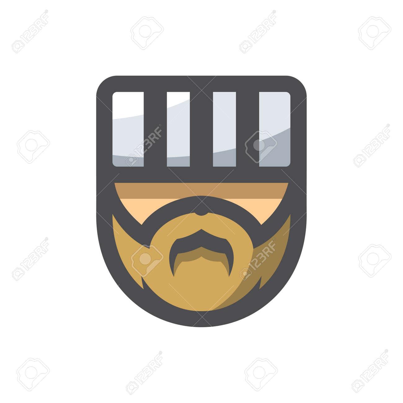 Prisoner Men Head Vector icon Cartoon illustration - 169914203