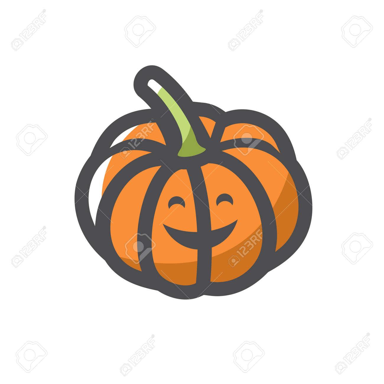 Pumpkin Gourd Vegetable Vector icon Cartoon illustration. - 169914204