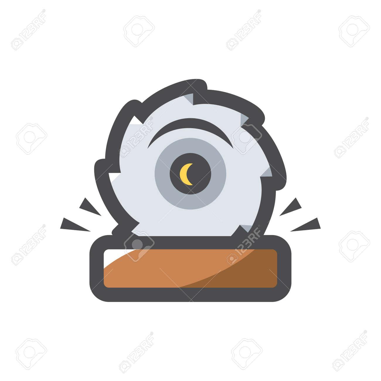 Sawmill Saw Wood Vector icon Cartoon illustration. - 169986778