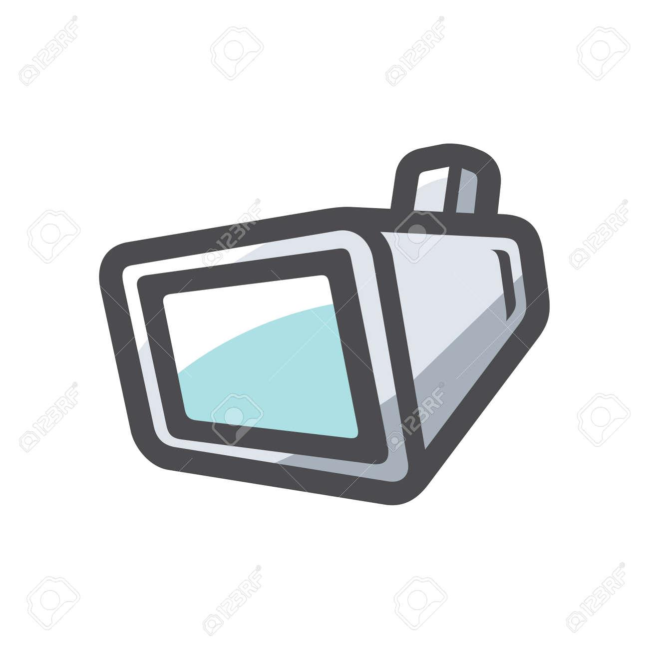 Handing screen TV Vector icon Cartoon illustration. - 169986784