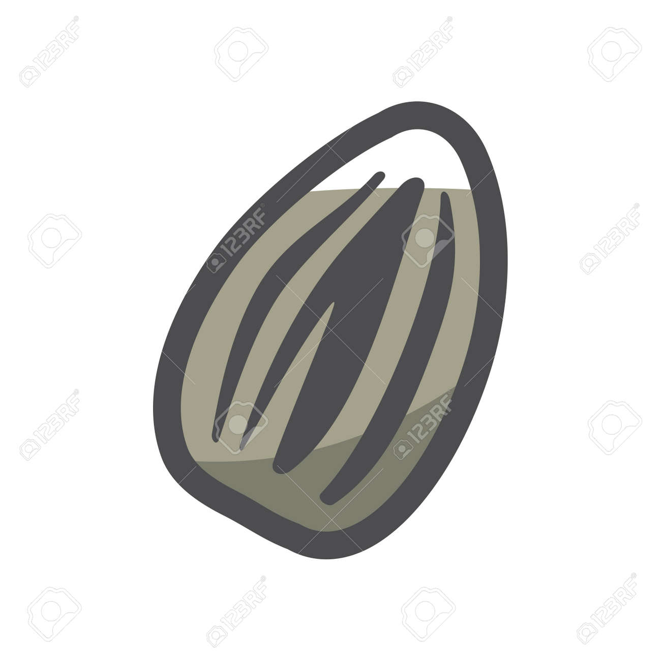 Sunflower Seed simple Vector icon Cartoon illustration. - 169912853
