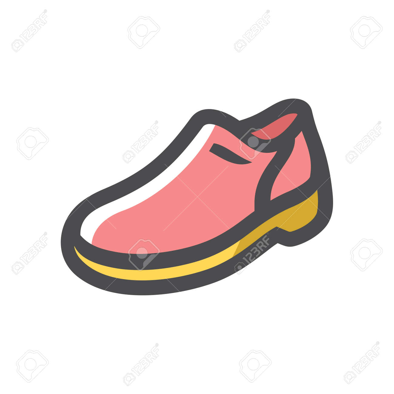 Mens pink Shoes Vector icon Cartoon illustration - 169912864