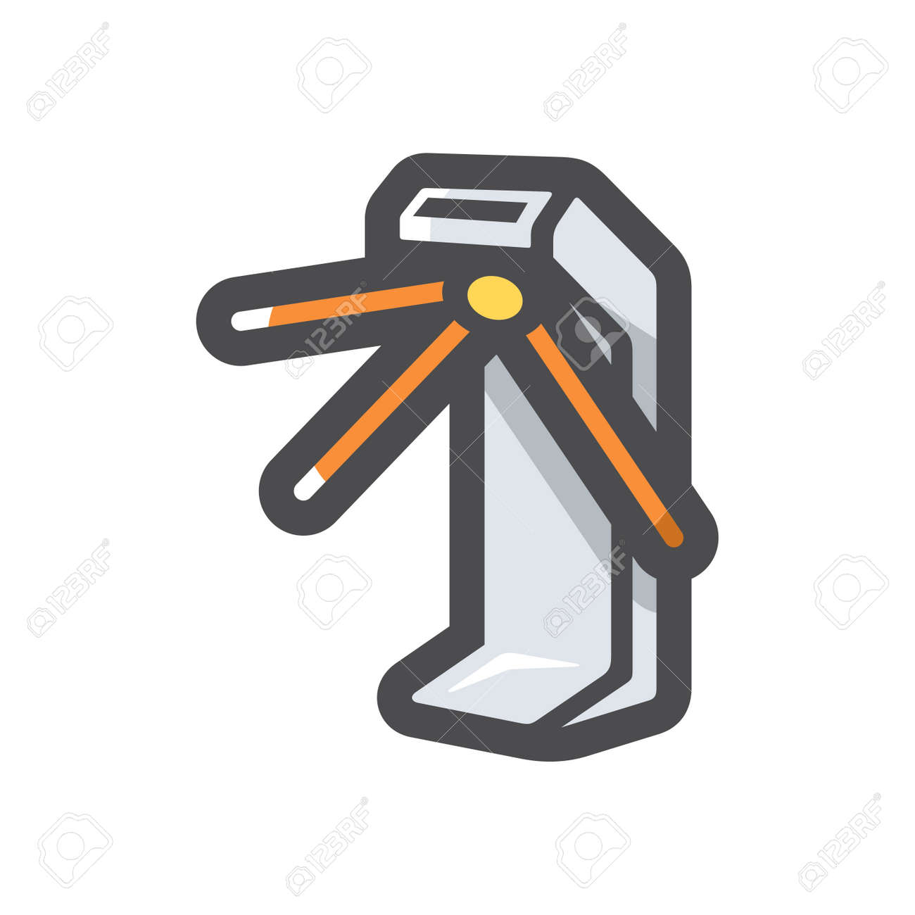 Turnstile security equipment Vector icon Cartoon illustration. - 171392941