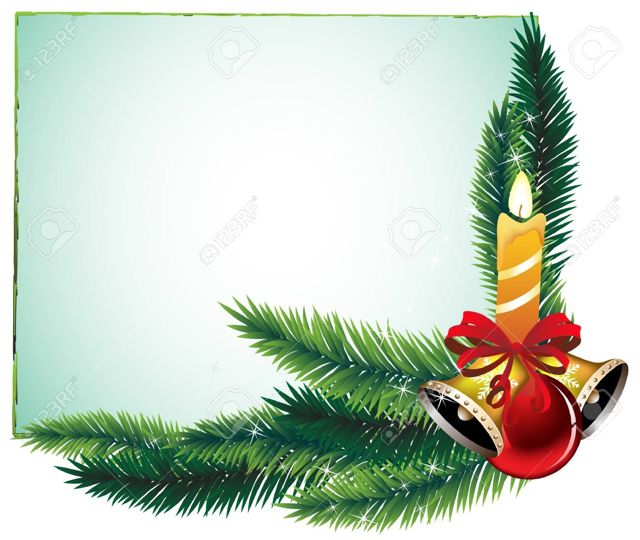 Garland of spruce branches and decorations Stock Vector - 11528036