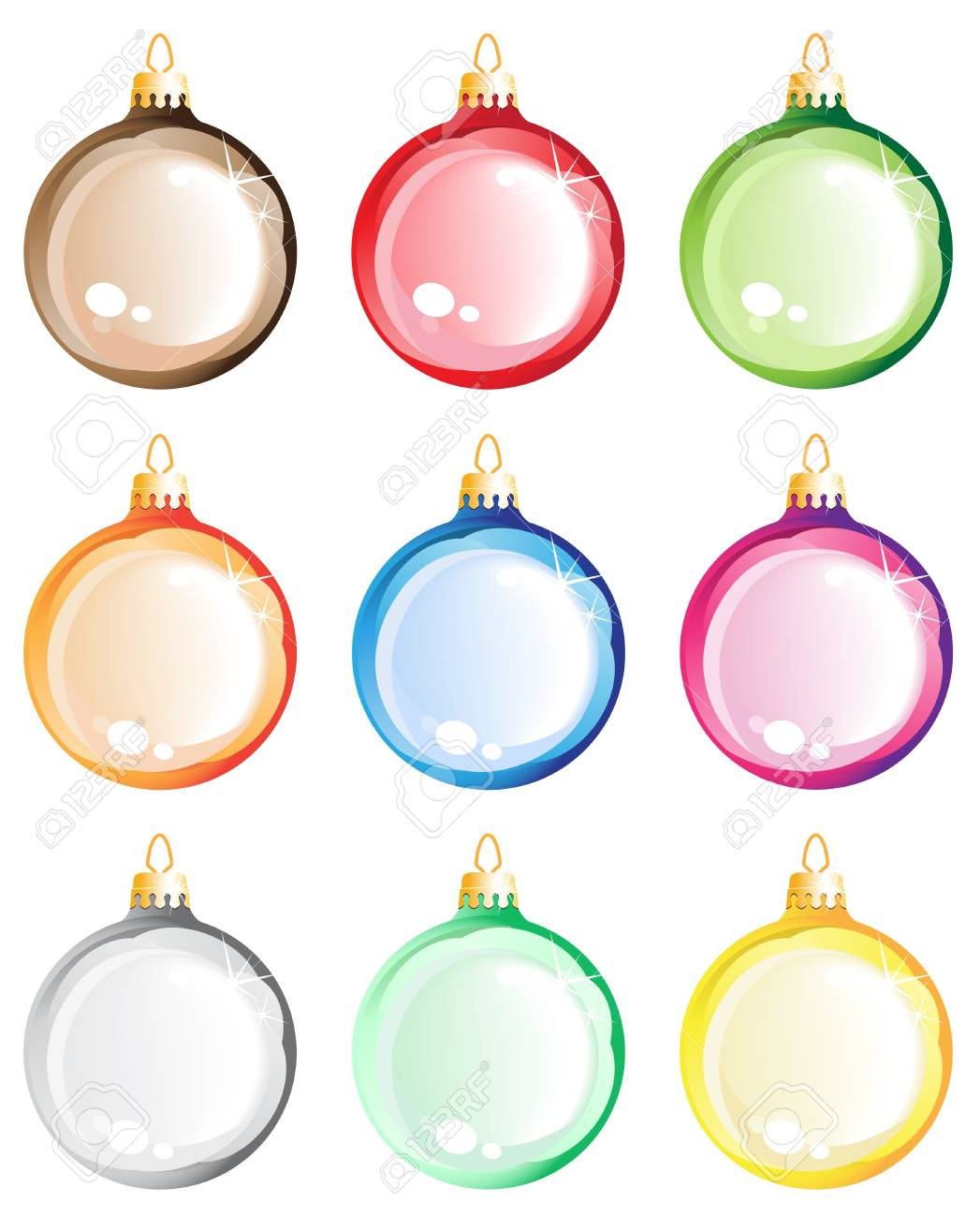 Christmas decorations on white background Stock Vector - 16118971