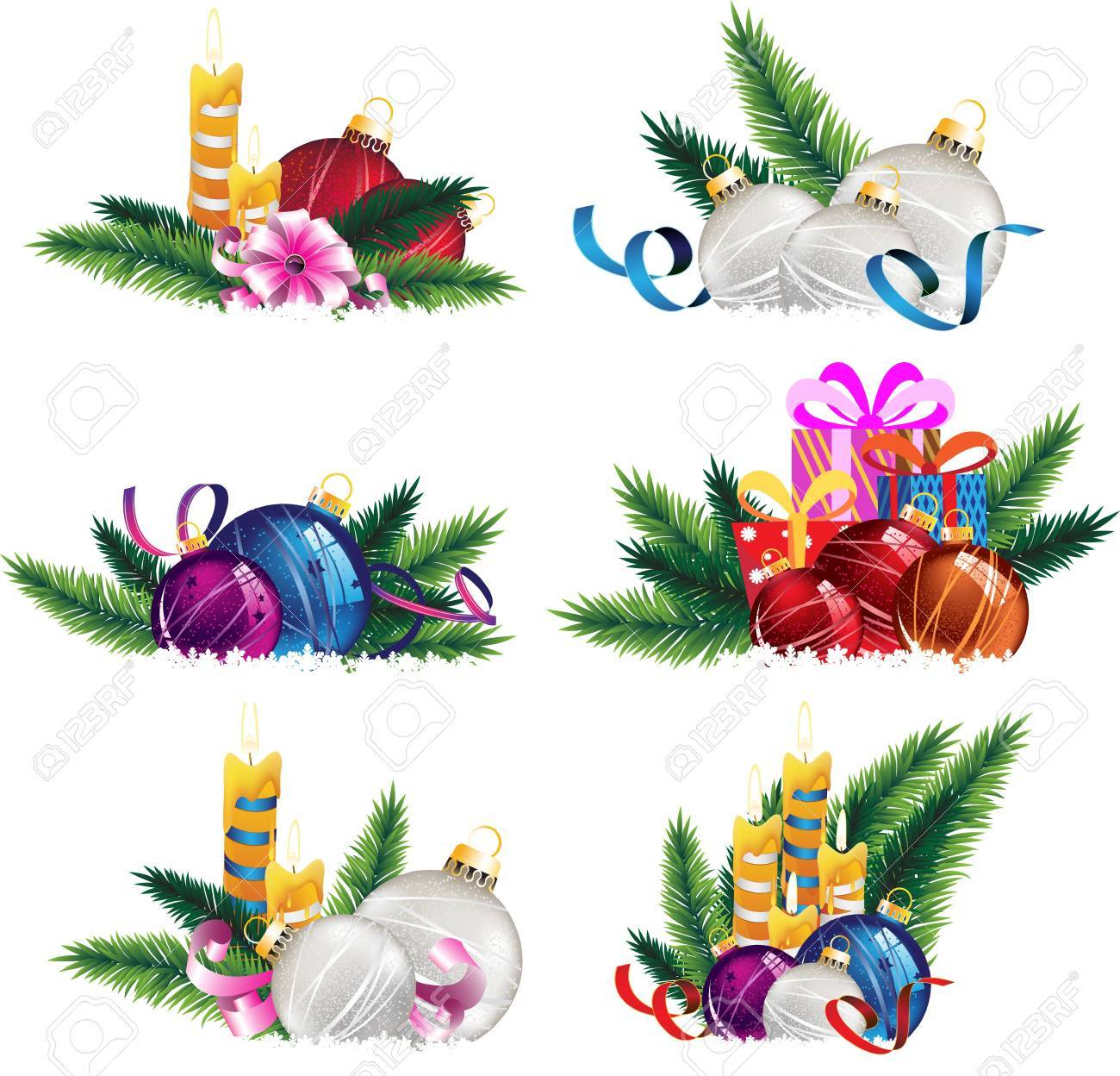 Set of Christmas and New Year - 16704553