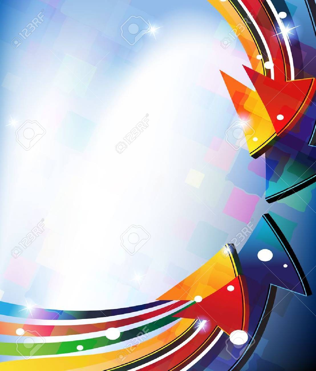 colored arrows on abstract background - 16704375