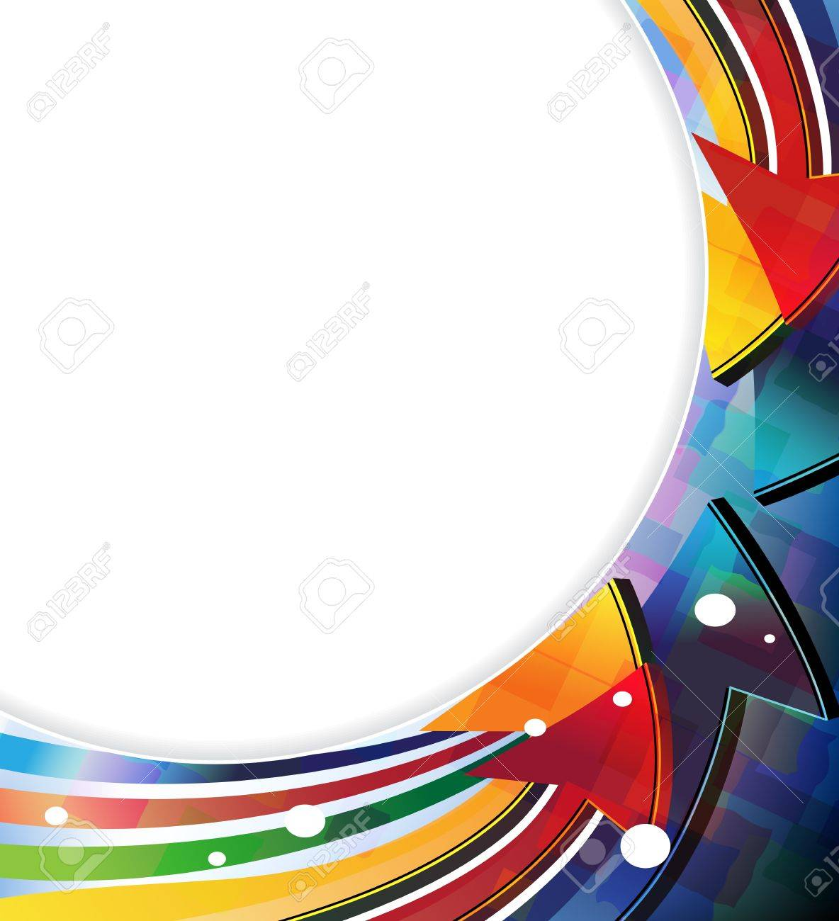 Color arrows. Abstract round border with place for text - 21699686