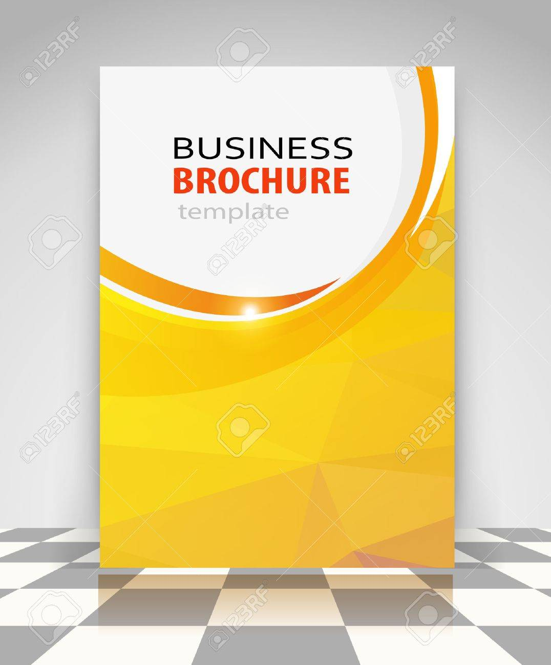 Yellow abstract vector business background. Creative flyer design, poster, booklet, brochure - 41367273