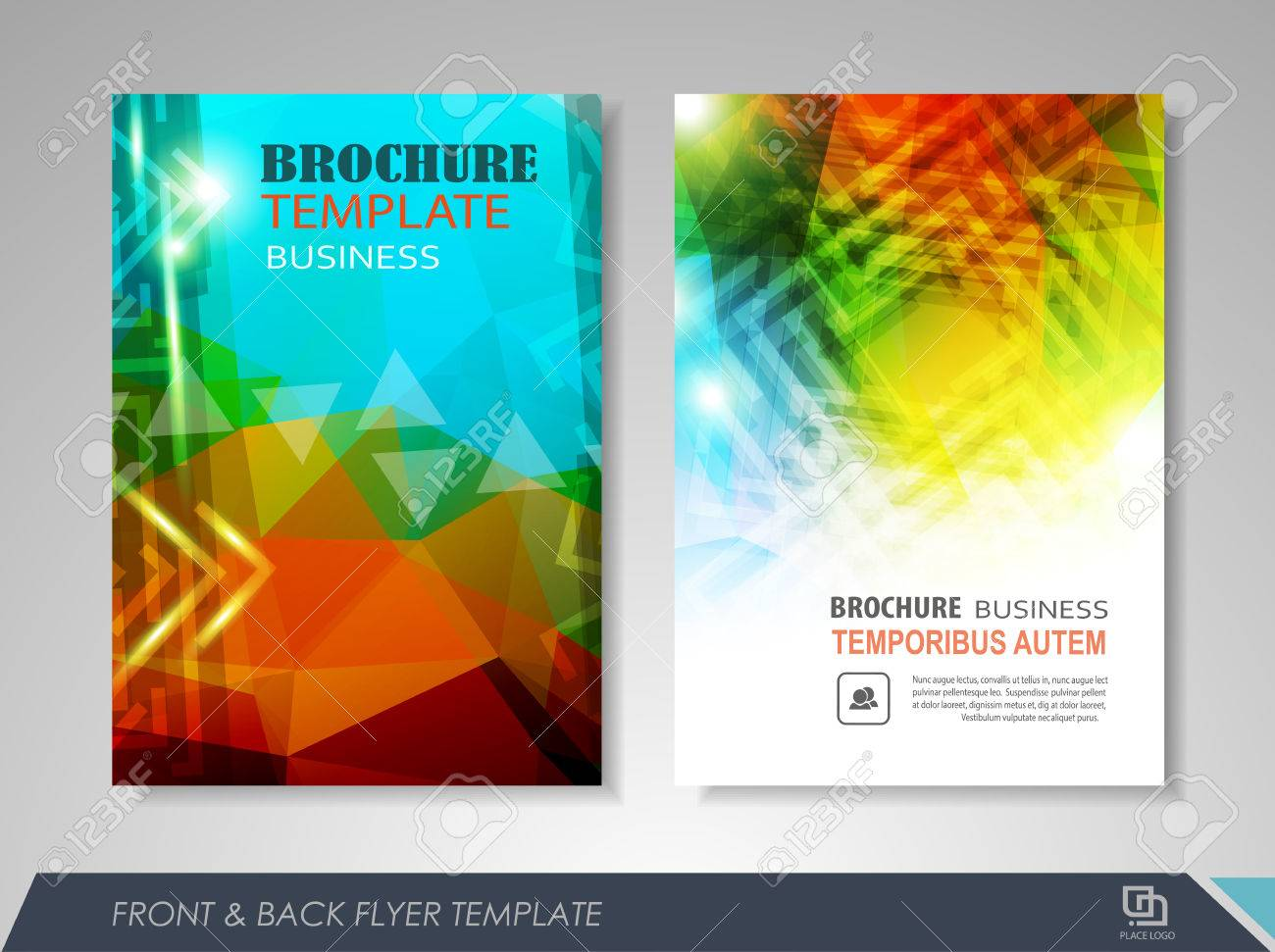 Front And Back Page Brochure Template Flyer Design Leaflet Royalty Free Cliparts Vectors And Stock Illustration Image 60324213