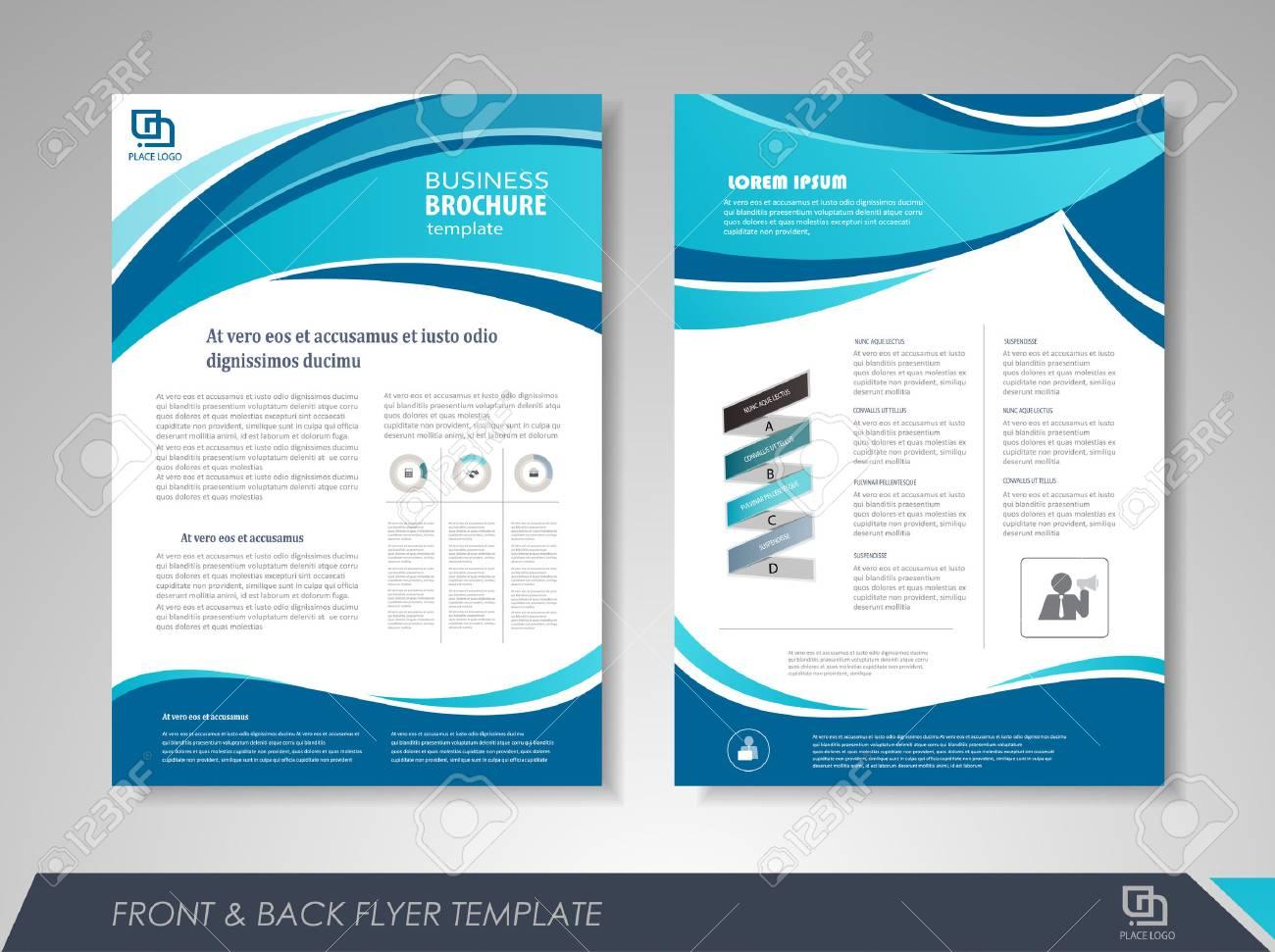 Modern Blue Brochure Design Brochure Template Brochures Brochure