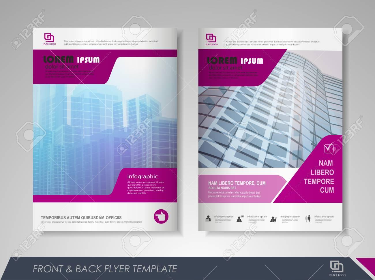 purple annual report brochure flyer design template leaflet