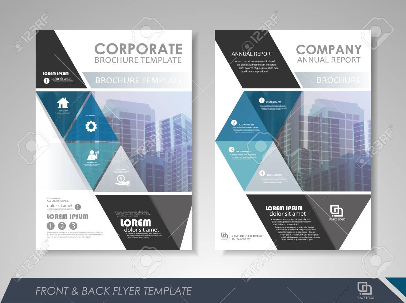 Modelo De Design Do Folheto Do Relatório Anual Azul Folheto De Apresentação De Apresentação De Fundo Abstrato Para Empresas Revistas Cartazes