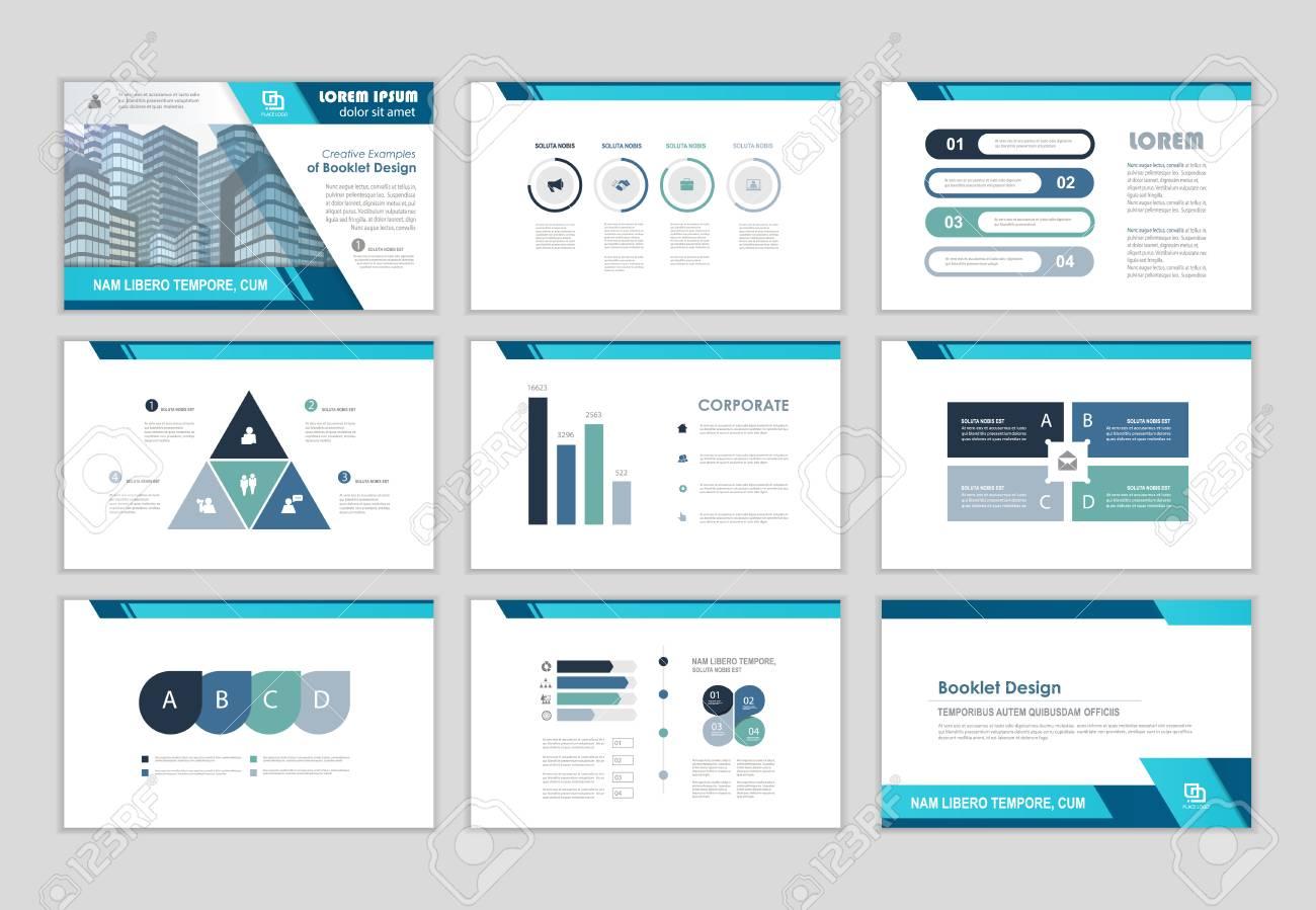 blue layout brochure design brochure template for business