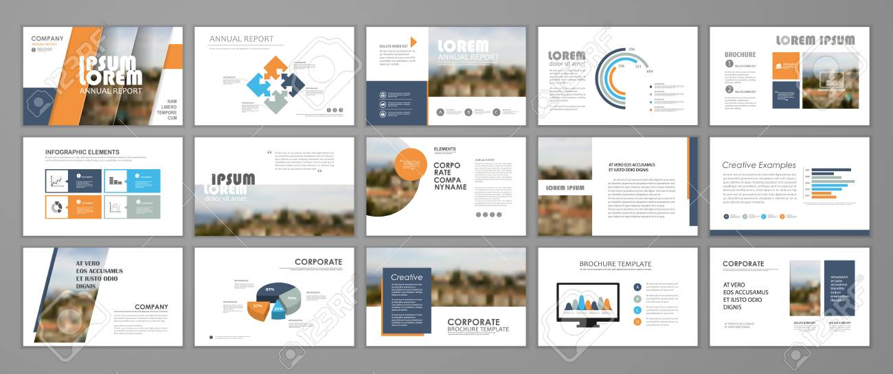 presentation templates for business booklet corporate report