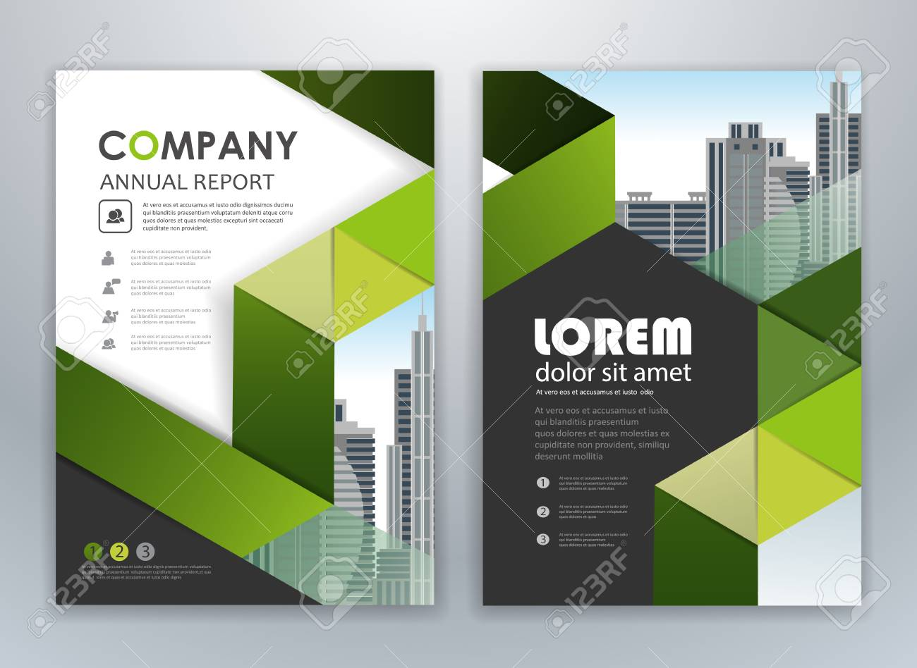 Green Annual Report Leaflet Brochure Flyer Template Design Book