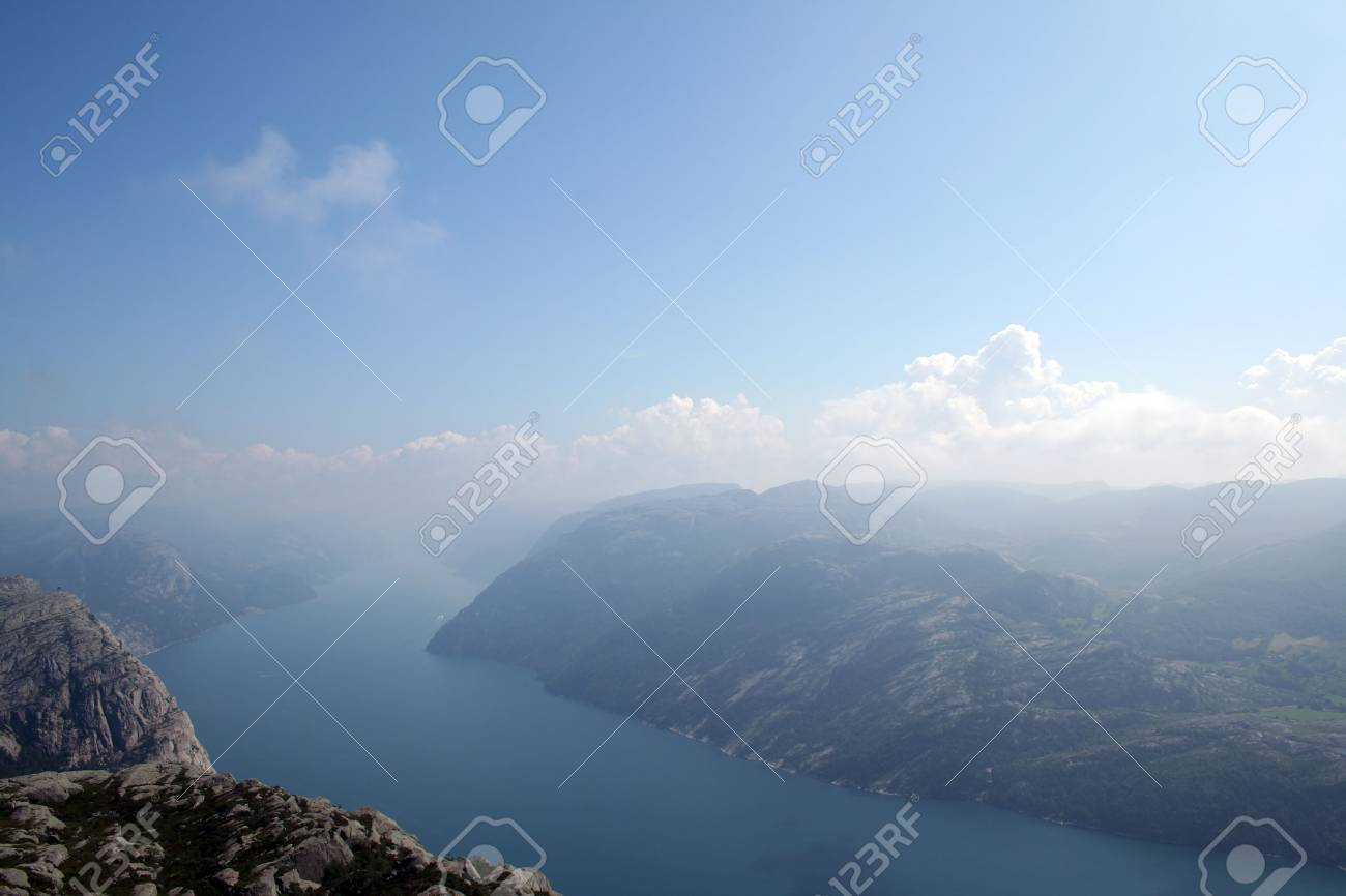beautiful view of the Norwegian fjord - nord europe Stock Photo - 859935