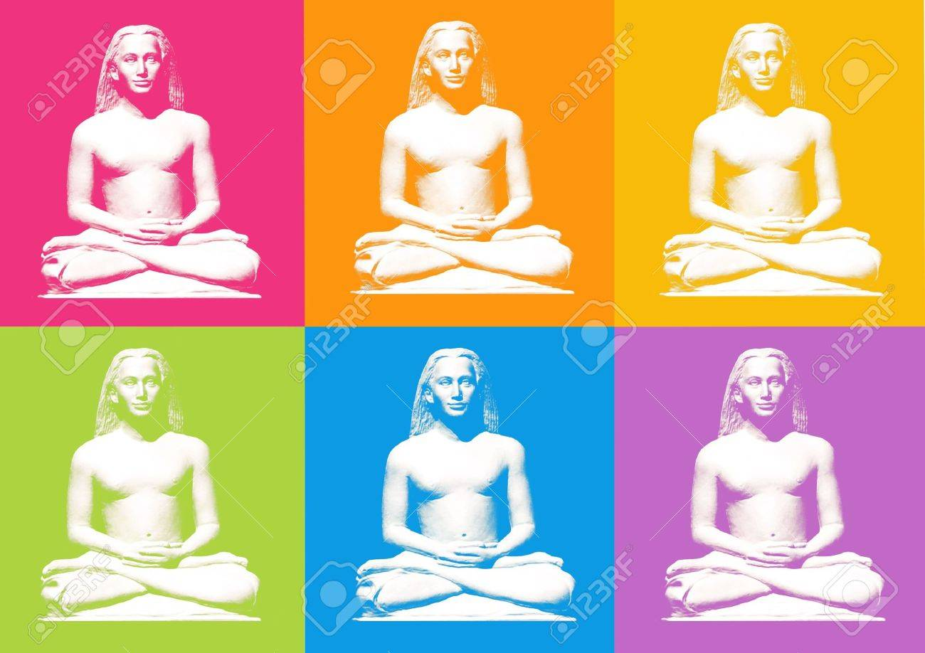 lotus yoga posture - computer generated clipart Stock Photo - 860029