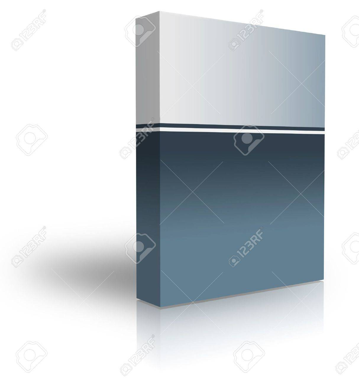 blank box  over white background- computer generated clipart Stock Photo - 863832