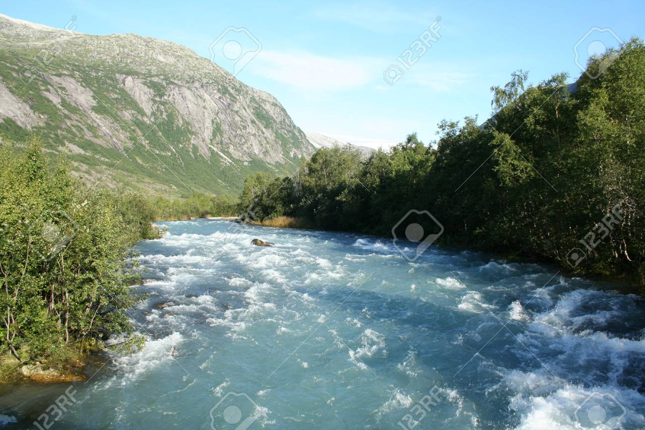 beautiful lanscapes from norwegian fjords  in the summer - europe travel Stock Photo - 981878