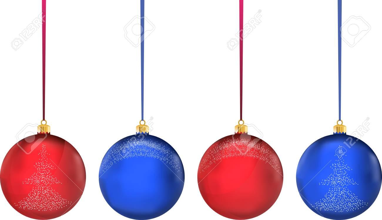 Palle Di Natale.Molto Alta Qualita Realistico Vettore Multicolore Palle Di Natale Alla Moda Originali Con I Fiocchi Di Neve E Albero Di Natale