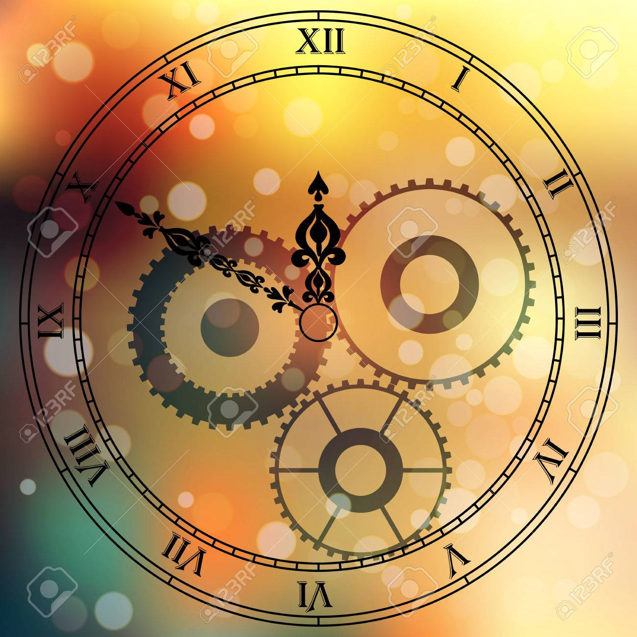 very high quality original trendy vector antique clock face with