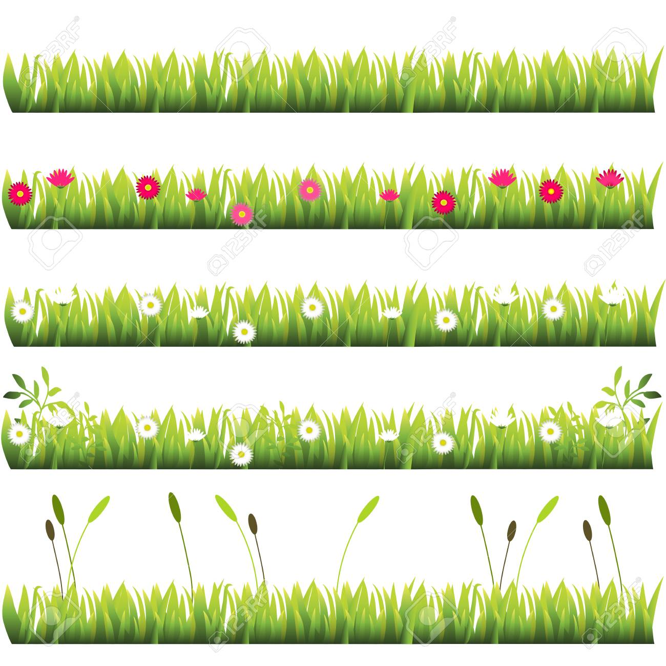 grass with flowers royalty free cliparts vectors and stock rh 123rf com free vector grass brush free vector grass texture