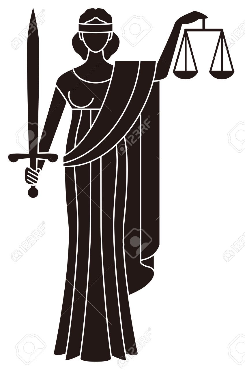 Symbol Of Justice Goddess Of Justice Themis Royalty Free Cliparts