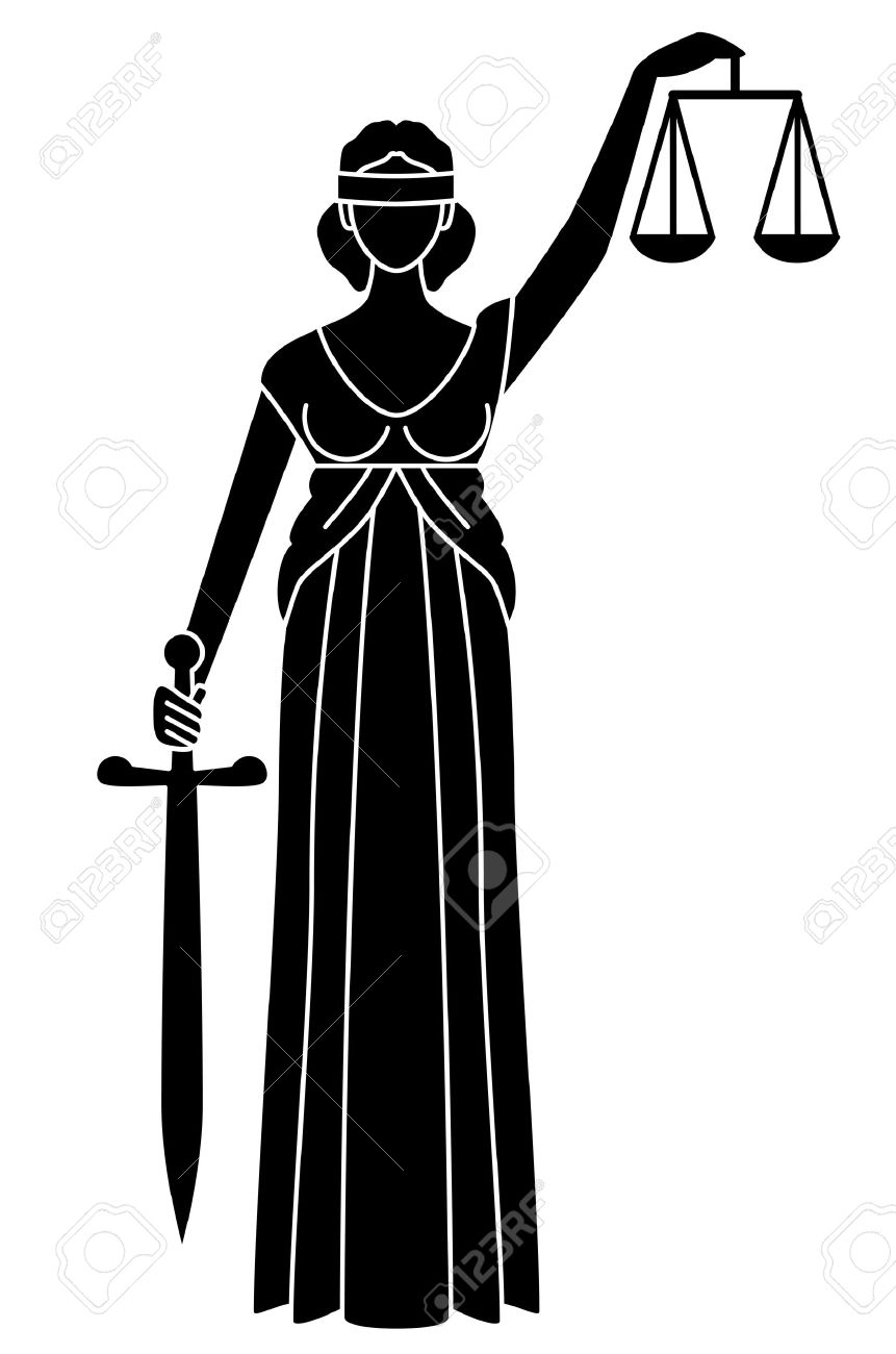 Symbol Of Justice Goddess Of Justice Royalty Free Cliparts Vectors