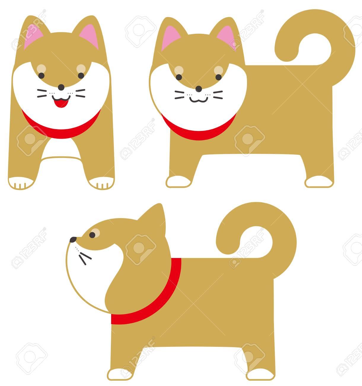 芝犬日本犬ベクトル図ですのイラスト素材ベクタ Image 86903448