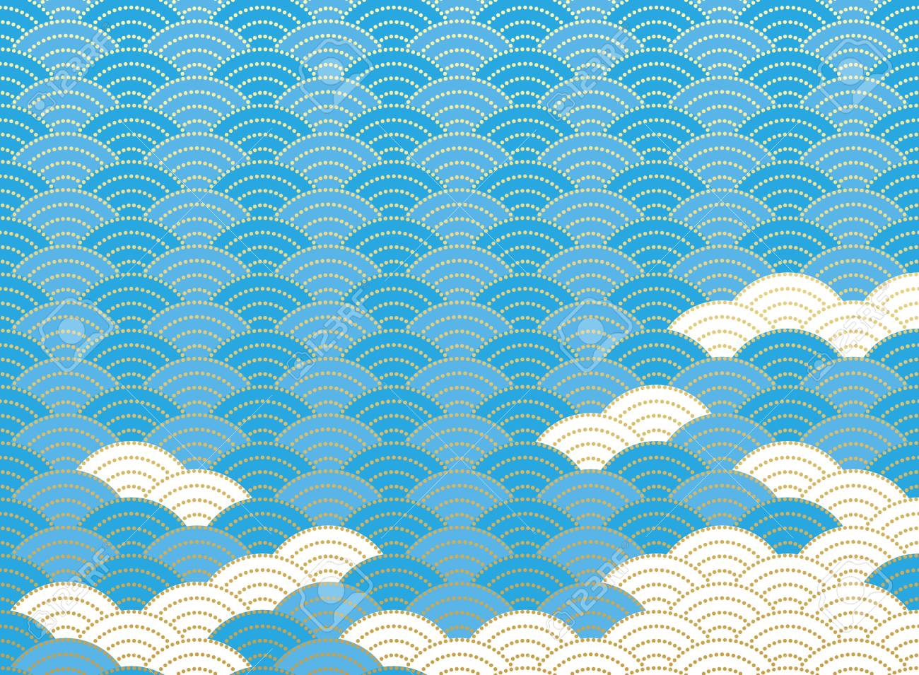 Qinghai Wave Pattern Japanese Background Material Royalty Free Cliparts Vectors And Stock Illustration Image 92160172