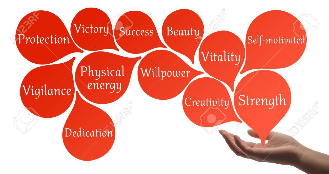 Colour therapy for beauty - Colour Therapy Scarlet Healing Energy Stock Photo 39963629