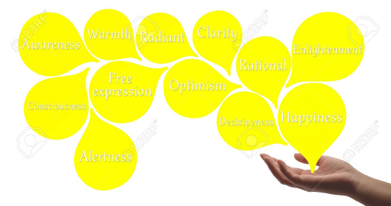 Colour therapy for digestion - Colour Therapy Yellow Healing Energy Stock Photo 40554611